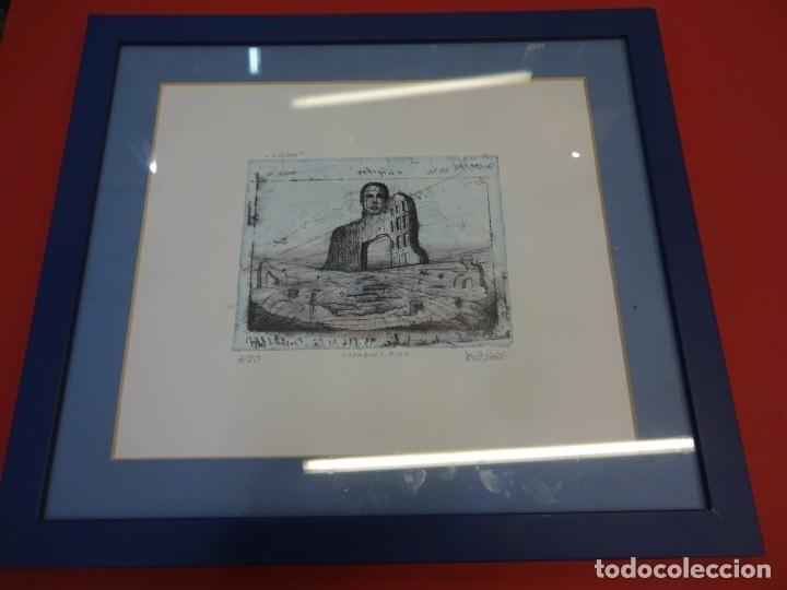 Arte: Interesante litografia de arte contemporáneo. Numerada 6/20. Firmada por el artista. 16 x 12 ctms - Foto 4 - 178956867