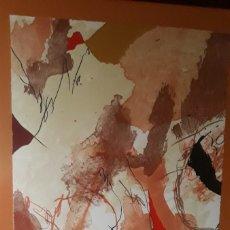 Arte: GUINOVAT JOSEP, ( 1927- 2007 )/ P/ A,/ CON CERTIFICADO INCLUIDO Y ENMARCADO. Lote 179019251