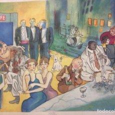 Arte: LITOGRAFÍA TINTÍN COCTEL 89X70CM.. Lote 179029820