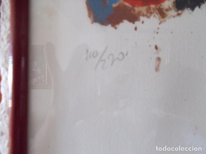 Arte: EXCELENTE LITOGRAFIA AUTOR DESCONOCIDO PIENSO NORDICO AÑOS 70 MEDIDAS 78/56 ENMARCADO - Foto 2 - 179081180