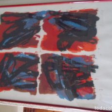 Arte: EXCELENTE LITOGRAFIA AUTOR DESCONOCIDO PIENSO NORDICO AÑOS 70 MEDIDAS 78/56 ENMARCADO. Lote 179081180