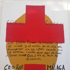 Arte: CHAMORRO SUAREZ CRUZ ROJA MÁLAGA FIRMADA Y NUMERADA. Lote 179103498