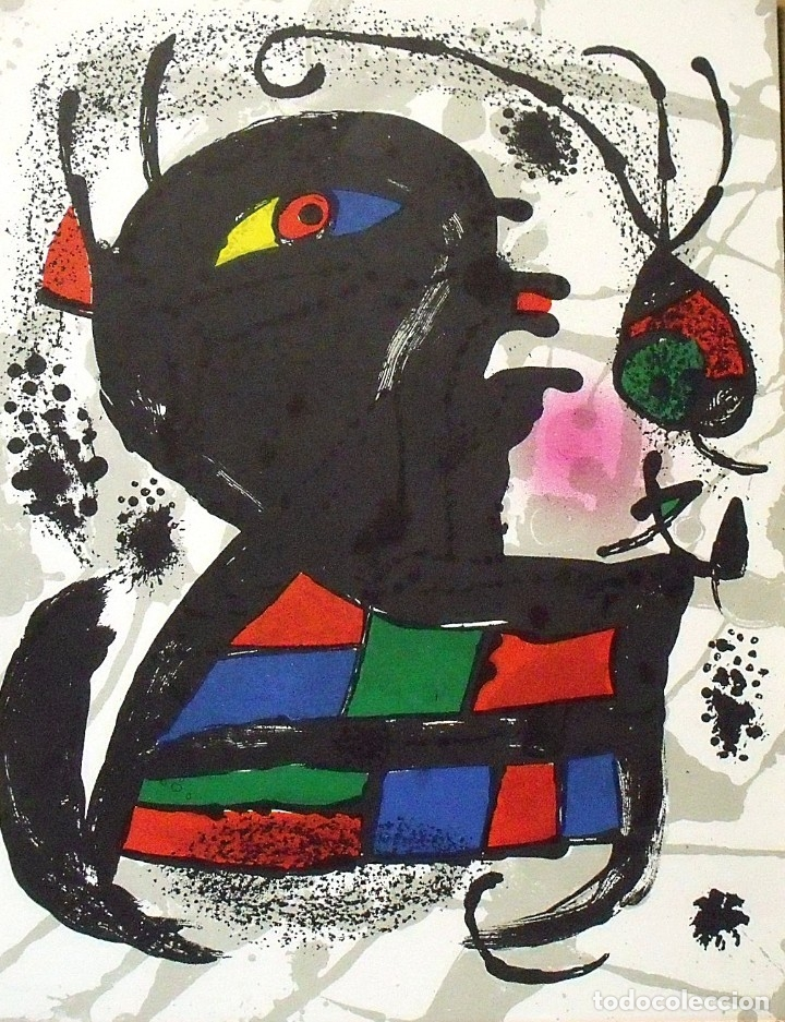 JOAN MIRÓ. LITOGRAFÍA ORIGINAL Nº V. EN BUEN ESTADO. 32X25 CM. POLÍGRAFA. 1977. (Arte - Litografías)