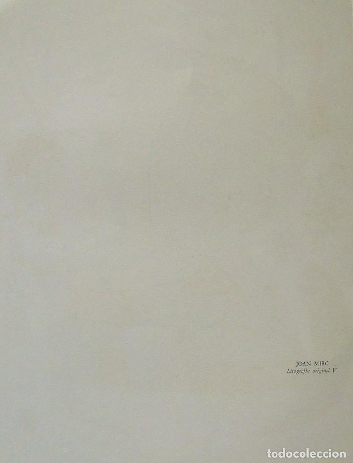 Arte: JOAN MIRÓ. LITOGRAFÍA ORIGINAL Nº V. EN BUEN ESTADO. 32X25 CM. POLÍGRAFA. 1977. - Foto 2 - 180169187