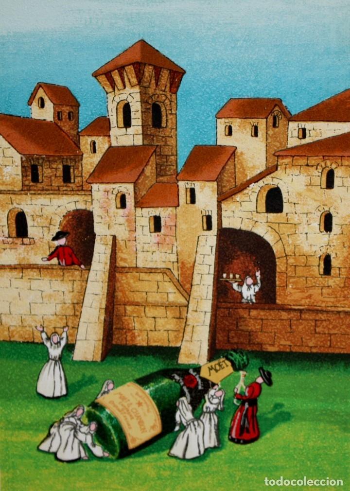 ROSSANO MASSACCESI -ULISSE- (OSIMO, 1957) SERIGRAFIA FIRMADA A LÁPIZ TITULADA MOËT. TIRAJE P/A (Arte - Litografías)