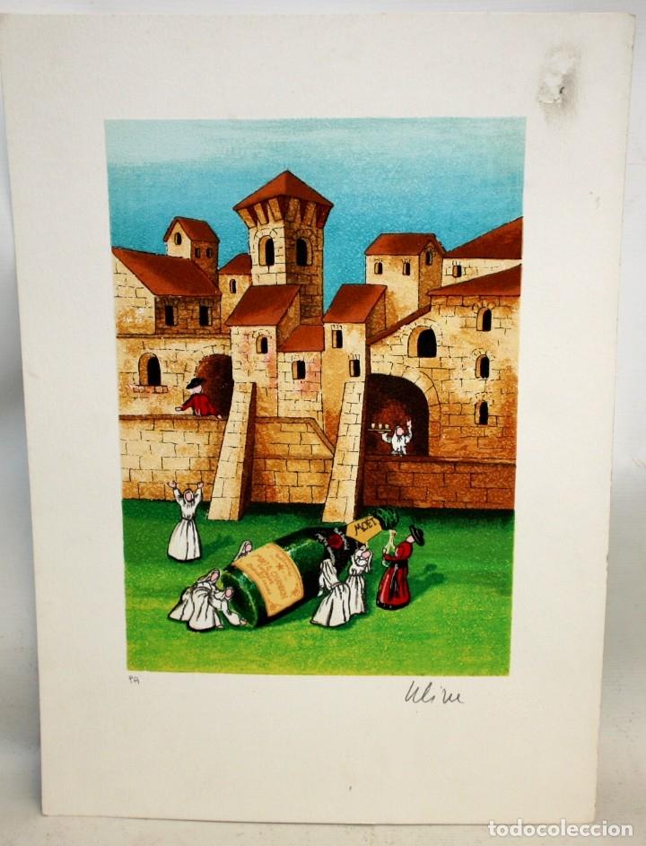 Arte: ROSSANO MASSACCESI -ULISSE- (Osimo, 1957) SERIGRAFIA FIRMADA A LÁPIZ TITULADA MOËT. TIRAJE P/A - Foto 2 - 180218946