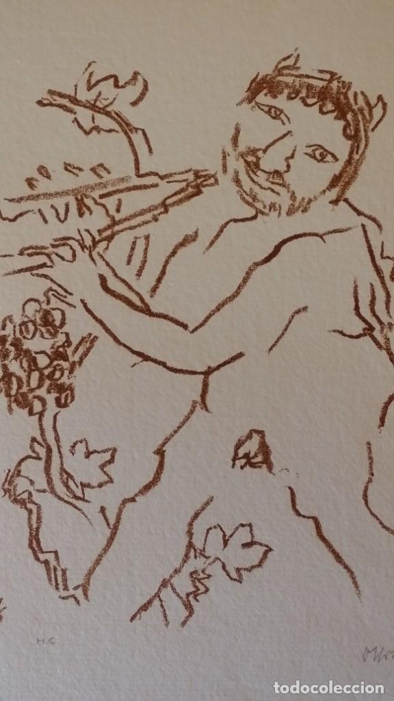 Arte: Oskar Kokoschka: Fauno, litografía firmada y justificada a lápiz. Sellos - Foto 3 - 180336083
