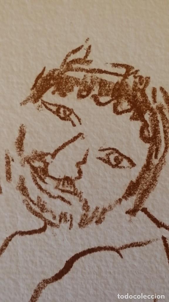 Arte: Oskar Kokoschka: Fauno, litografía firmada y justificada a lápiz. Sellos - Foto 6 - 180336083