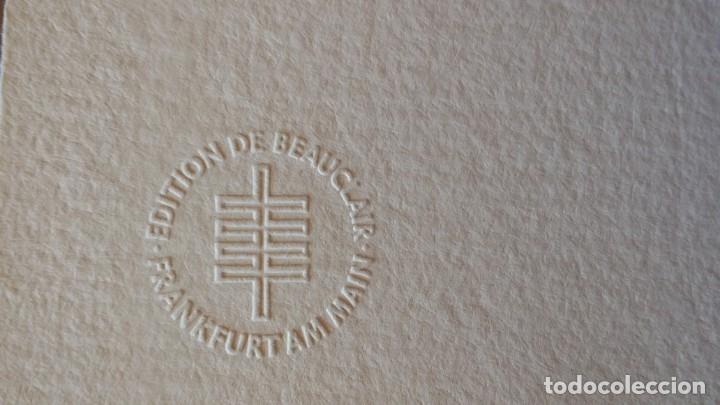 Arte: Oskar Kokoschka: Fauno, litografía firmada y justificada a lápiz. Sellos - Foto 14 - 180336083