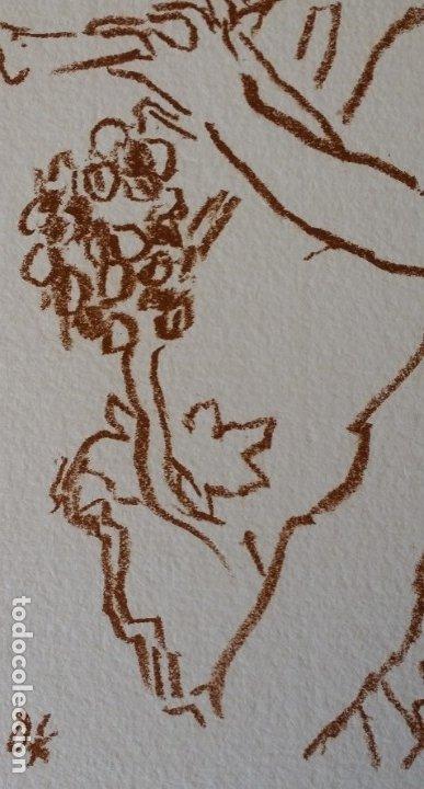 Arte: Oskar Kokoschka: Fauno, litografía firmada y justificada a lápiz. Sellos - Foto 10 - 180336083