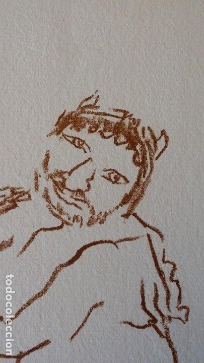 Arte: Oskar Kokoschka: Fauno, litografía firmada y justificada a lápiz. Sellos - Foto 5 - 180336083