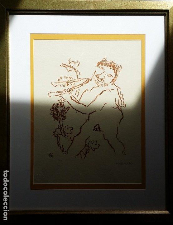 Arte: Oskar Kokoschka: Fauno, litografía firmada y justificada a lápiz. Sellos - Foto 15 - 180336083