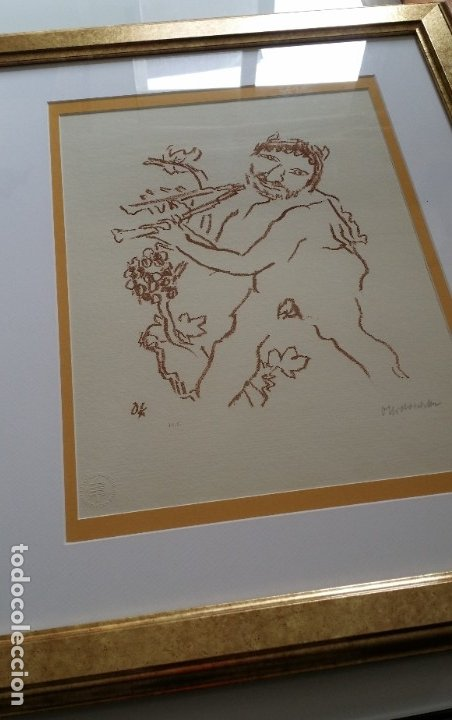 Arte: Oskar Kokoschka: Fauno, litografía firmada y justificada a lápiz. Sellos - Foto 16 - 180336083