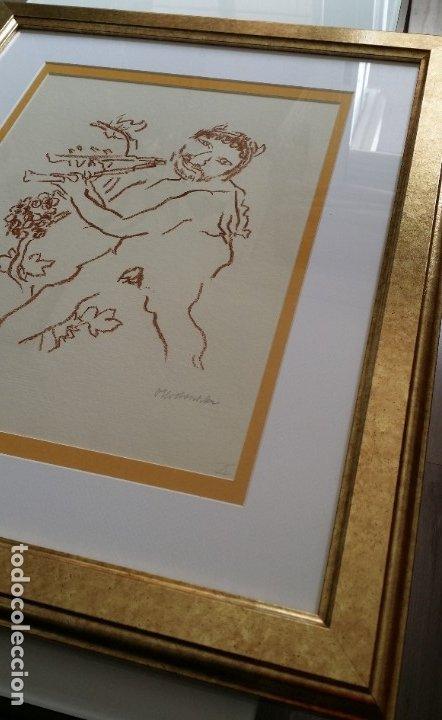 Arte: Oskar Kokoschka: Fauno, litografía firmada y justificada a lápiz. Sellos - Foto 17 - 180336083