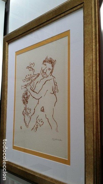 Arte: Oskar Kokoschka: Fauno, litografía firmada y justificada a lápiz. Sellos - Foto 18 - 180336083