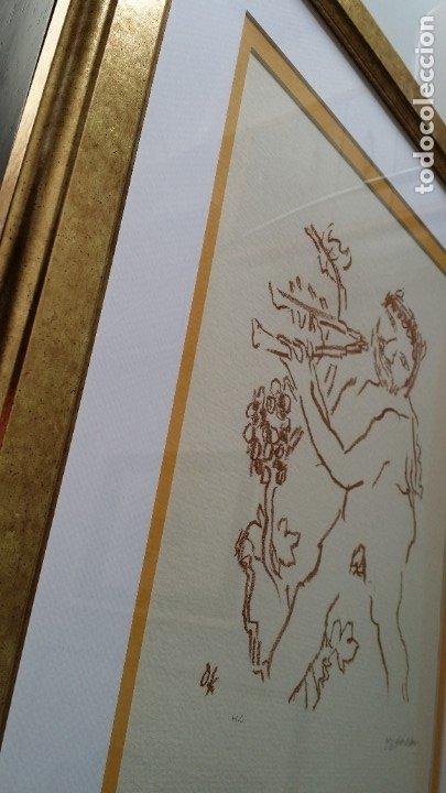 Arte: Oskar Kokoschka: Fauno, litografía firmada y justificada a lápiz. Sellos - Foto 21 - 180336083