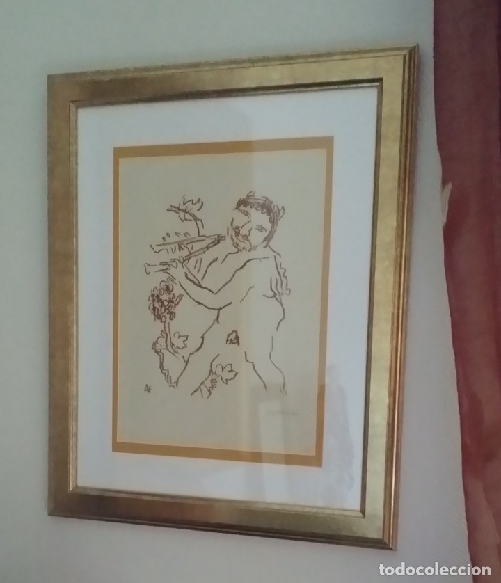 Arte: Oskar Kokoschka: Fauno, litografía firmada y justificada a lápiz. Sellos - Foto 23 - 180336083