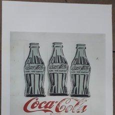 Arte: LITOGRAFIA DE ANDY WARHOL,TRIPLE COCA COLA,NUMERADO A LAPIZ,CON FIRMA Y MARCA DE AGUA,57X38 CMS. Lote 180442571