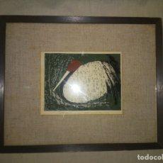 Arte: ANTIGUA LITOGRAFIA ORIGINAL JAPONESA AÑO 1930 - FIRMADA.. Lote 180942923