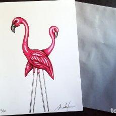 Arte: LITOGRAFIA DE - ANTONIO FELIPE PLASTIC-FLAMINGOS . EDICION LIMITADA DE 50.TAMAÑO 20 X 31 CMS.. Lote 180978537