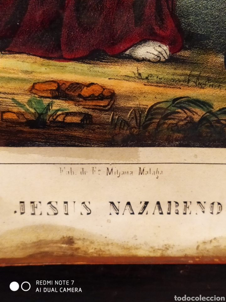 Arte: GRAN LITOGRAFÍA, SIGLO XIX, JESÚS NAZARENO, FBC DE FCO MITJANA, MALAGA - Foto 3 - 181487842