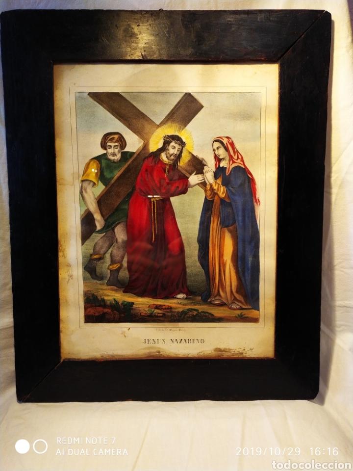 Arte: GRAN LITOGRAFÍA, SIGLO XIX, JESÚS NAZARENO, FBC DE FCO MITJANA, MALAGA - Foto 7 - 181487842