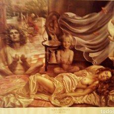 Arte: ALEX ALEMANY - LITOGRAFIA ENMARCADA - LA MUJER. Lote 181695672