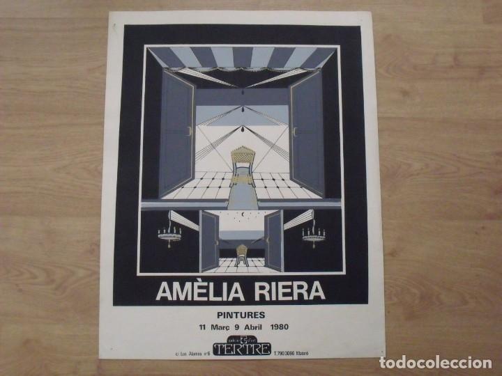 AMÈLIA RIERA. PINTURES. 1980. GALERÍA TERTRE. MATARÓ. CARTEL LITOGRÁFICO. 65X50 CM. (Arte - Litografías)