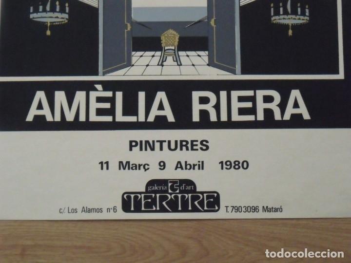 Arte: Amèlia Riera. Pintures. 1980. Galería Tertre. Mataró. Cartel litográfico. 65x50 cm. - Foto 3 - 181735640