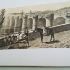 Arte: LITOGRAFÍA DE PATRIMONIO NACIONAL, PUENTE DE TOLEDO, MADRID. Lote 182009868