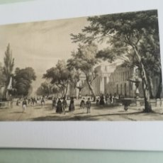 Arte: MADRID, VISTAS DEL PRADO Y MUSEO, LITOGRAFÍA DE PATRIMONIO NACIONAL. Lote 182010913