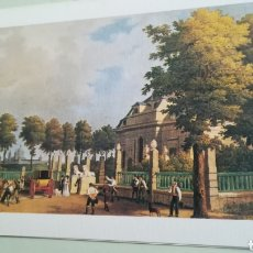 Arte: VISTA DE LA CASA DE CAMPO DE ARRIBA, SAN LORENZO DEL ESCORIAL, LITOGRAFÍA DE PATRIMONIO NACIONAL. Lote 182011888
