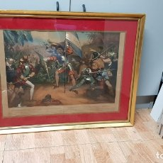 Arte: LITOGRAFÍA MAURIN, NICOLAS EUSTACHE CHRISTOVAL COLON DESCUBRE LA AMERICA. Lote 182028208