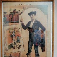 Arte: LITOGRAFÍA ENMARCADA REVISTA LA LIDIA. FINALES SIGLO XIX. RETRATO JOSÉ BAYARD BADILA. TOROS. Lote 182094065