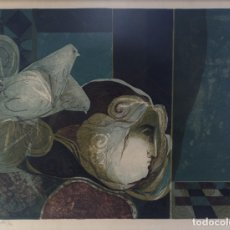 Arte: ALVAR SUÑOL (1935) LITOGRAFÍA PROVA D'ARTISTA CARA Y PALOMAS FIRMADA A LÁPIZ . Lote 182899988