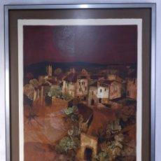 Arte: ALVAR SUÑOL (1935) LITOGRAFÍA PROVA D'ARTISTA PUEBLO DE MONTAÑA FIRMADO A LÁPIZ. Lote 182899990