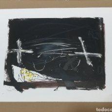 Arte: LITOGRAFIA DE ANTONI TÀPIES 1973 LA PRÀCTICA DE L'ART. Lote 183479410