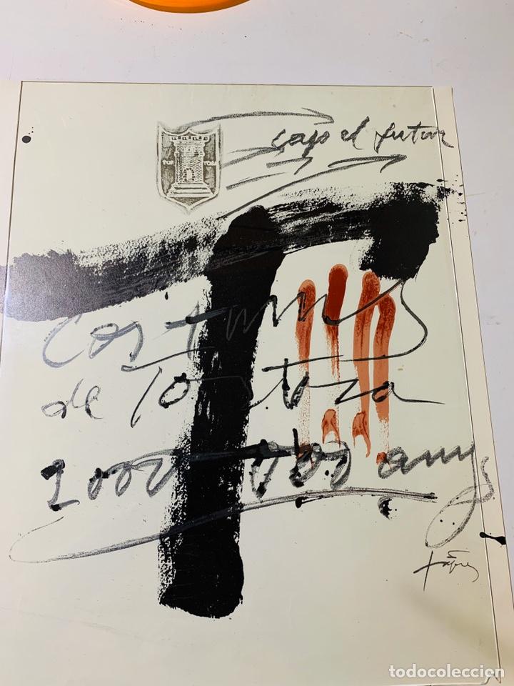 Arte: LITOGRAFIA DE ANTONI TÀPIES CARTEL CONMEMORATIVO DEL BIMIL'LENARI TORTOSA 1985-1986 FIRMADO - Foto 2 - 184032035