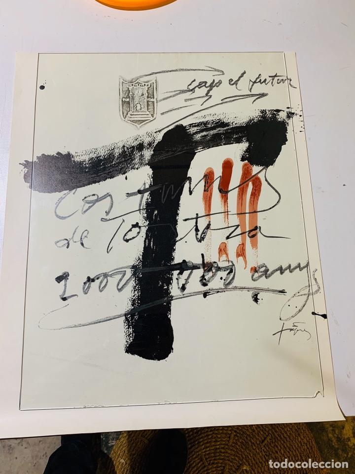 LITOGRAFIA DE ANTONI TÀPIES CARTEL CONMEMORATIVO DEL BIMIL'LENARI TORTOSA 1985-1986 FIRMADO (Arte - Litografías)