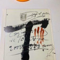 Arte: LITOGRAFIA DE ANTONI TÀPIES CARTEL CONMEMORATIVO DEL BIMIL'LENARI TORTOSA 1985-1986 FIRMADO. Lote 184032035