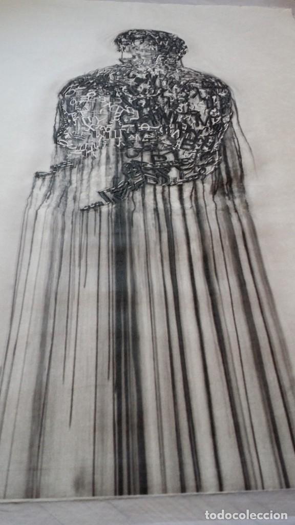 Arte: Jaume PLENSA: grabado técnica mixta, papel Japón, firmado y numerado, 2010 - Foto 5 - 154425042
