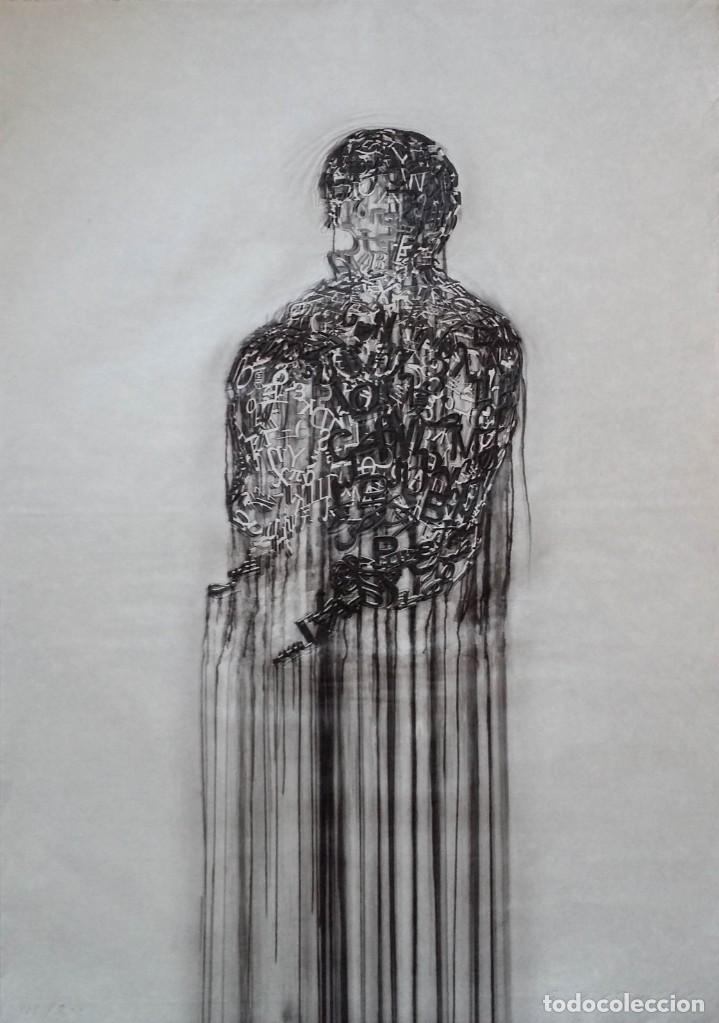 JAUME PLENSA: GRABADO TÉCNICA MIXTA, PAPEL JAPÓN, FIRMADO Y NUMERADO, 2010 (Arte - Litografías)