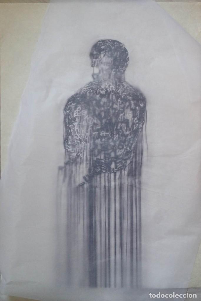Arte: Jaume PLENSA: grabado técnica mixta, papel Japón, firmado y numerado, 2010 - Foto 2 - 154425042