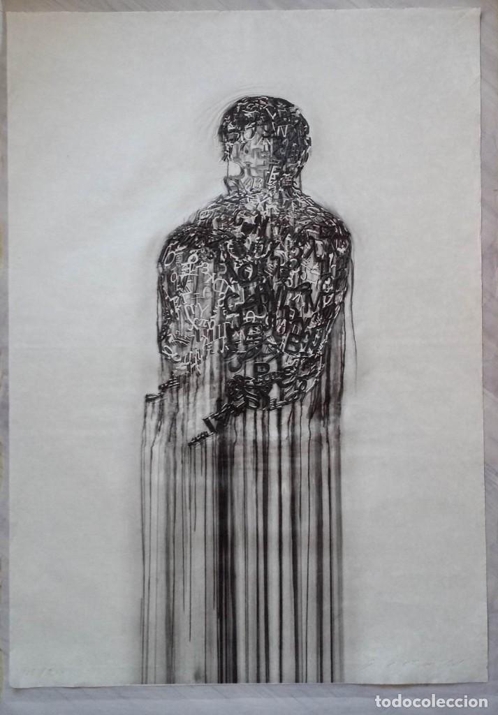 Arte: Jaume PLENSA: grabado técnica mixta, papel Japón, firmado y numerado, 2010 - Foto 4 - 154425042