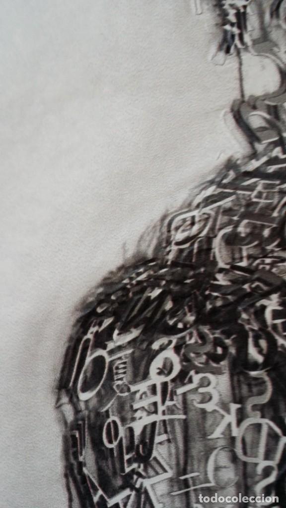 Arte: Jaume PLENSA: grabado técnica mixta, papel Japón, firmado y numerado, 2010 - Foto 11 - 154425042