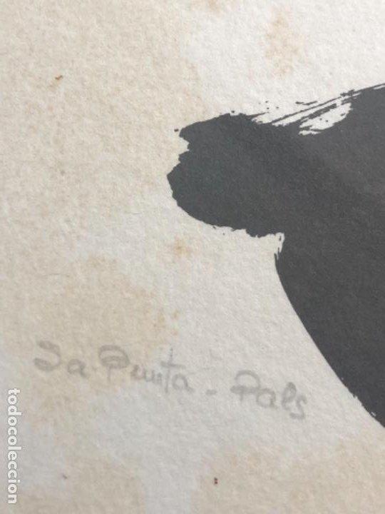 Arte: LITOGRAFÍA OFFSET CON PUNTO AMARILLO ORIGINAL MODEST CUIXART 21x23,5 CM AÑO 84 - Foto 5 - 184300242