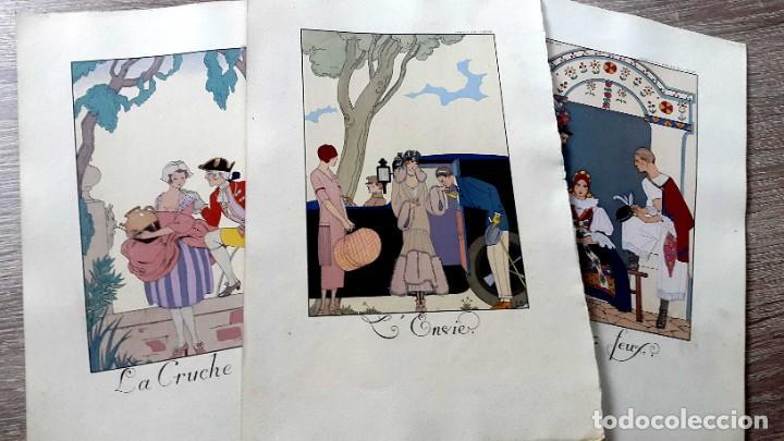 GEORGE BARBIER - 1921 - 3 LITOGRAFIAS (Arte - Litografías)