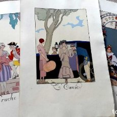 Arte: GEORGE BARBIER - 1921 - 3 LITOGRAFIAS. Lote 186086432