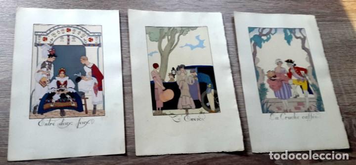 Arte: GEORGE BARBIER - 1921 - 3 LITOGRAFIAS - Foto 2 - 186086432