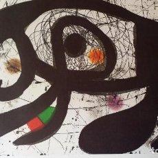 Arte: JOAN MIRO, CARTEL LITOGRÁFICO DEL AÑO 1979, FIRMADO, GRAN TAMAÑO. Lote 222647490